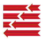 Red Striped Arrows and Ribbons. — Stock Photo