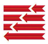 Cintas y flechas rayas rojas. — Foto de Stock