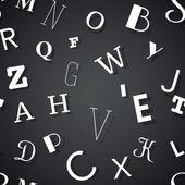 Tipografi sorunsuz arka plan — Stok Vektör