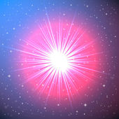 Explosion of a Star in Space — Stock Vector