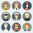 Occupations Icons Set — Vettoriale Stock