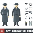 Stock Vector: Spy Character Pack