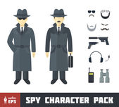Spy Character Pack — Stock Vector