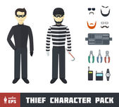 Thief Character Set — Stock Vector