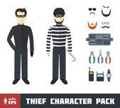 Thief Character Set — Stock Vector