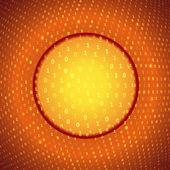 Yellow Orange Abstract Binary Background — Stock Vector