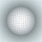 Abstract Sphere on Binary Background — Stock Vector