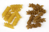Uncooked fusilli pasta — Stock Photo