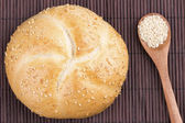 Sesame bread with sesame seed in spoon  — Стоковое фото