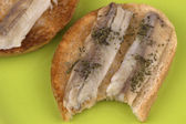 Sandwiches with fish on toast — Стоковое фото