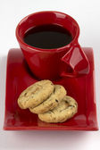 Oatmeal biscuits and cup of coffee — Стоковое фото