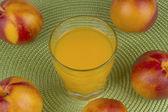 Ripe nectarine and juice  — ストック写真