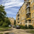 Courtyard of the Russian city — Stock Photo