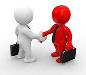 Special handshake — Stock Photo