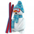 Royalty-Free Stock Photo: 3d snowman skier