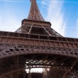 Stock Photo: Paris with Eiffel Tower.
