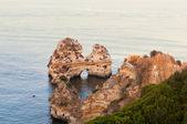 Costal cliffs in Lagos, Portugal — Stock Photo