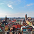 Aerial view of Wrocław, Poland — Stock Photo