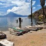 Fishing boats at Atitlan lake, Guatemala — Stock Photo #27123661