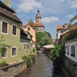 Watermill channel in Cesky Krumlov, Czech Republic — Stock Photo