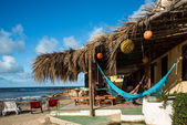 Bungalows and hammocks on the Uruguayan coast — Stock Photo