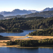 Stock Photo: Nahuel Huapi lake, PatagoniArgentina, from Panoramic Point near Bariloche