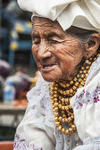 Ecuador Otavalo Indian woman — Stock Photo