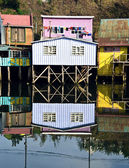 Palafito houses above the water in Castro, Chiloe, Chile — Stock Photo