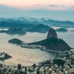 Sugarloaf Mountain, Rio de Janeiro from Corcovado, Brazil — Stock Photo #27386049