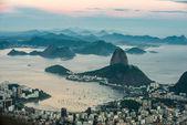 Sugarloaf Mountain, Rio de Janeiro from Corcovado, Brazil — Stock Photo