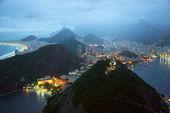 Rio de Janeiro by night, Brazil — Stock Photo