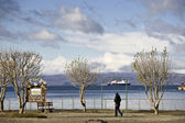 Ships Visit Ushuaia Argentina — Stock Photo