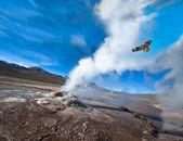 Valley of Geysers in the Atacama Desert — Stock Photo
