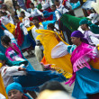 Stock Photo: Dancers at parade, Quito's Day, Ecuador