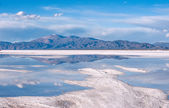 Salinas Grandes on Argentina Andes is a salt desert in the Jujuy — Stock Photo