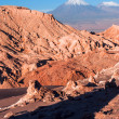 Volcanoes Licancabur and Juriques, Atacama, Chile — Stock Photo