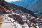 Pre Inca traditional salt mine — Stock Photo