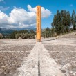 Equator Line Monument, marks the point through which the equator — Stock Photo