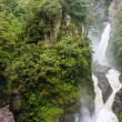 Stock Photo: Pailon del Diablo - Mountain river and waterfall in Andes. B