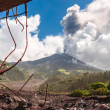 Eruption of a volcano Tungurahua, Cordillera Occidental of the A — Stock Photo