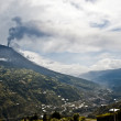 Eruption of a volcano Tungurahua, Cordillera Occidental of the — Stock Photo