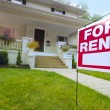 Home For Rent Sign  — Stockfoto