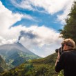 Stock Photo: Eruption of volcano Tungurahuin Ecuador
