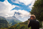 Eruption of a volcano Tungurahua in Ecuador — Stock Photo