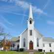 Rural Church, Midwest, Ohio, near Akron, USA — Stock Photo