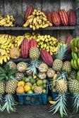 Latin America Fruit street market, Ecuador — Stock Photo