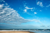 Clouds over the famous beach  Jose Ignacio in Uruguay — Foto Stock