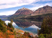 Autumn Colors in Lake Gutierrez, near Bariloche, Patagonia — Stock Photo