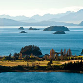 Nahuel Huapi lake, Patagonia, Argentina — Stock Photo