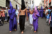 Catholic procession on Good Friday in Quito, Ecuador — Stock Photo